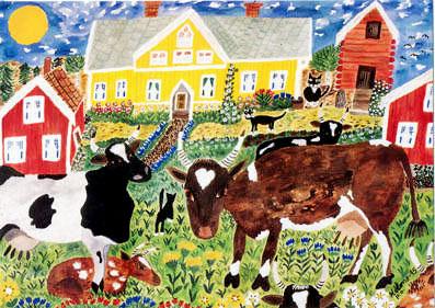 Miss Dellenbygden Akvarell 70 x 50
