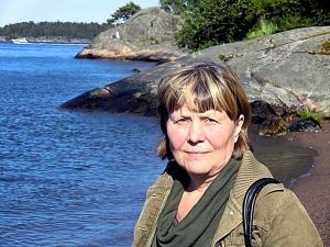 Ann Helena Rudberg vid Lillsved på Värmdö.