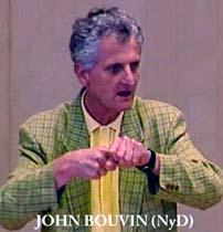 John Bouvin i riksdagen.