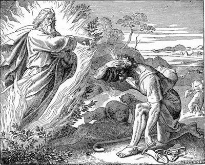 Gud talar till Moses.