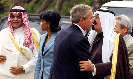 "The truth goes to oil and it has its roots in the relationship between former CIA director George Bush Senior's family and Saudi Arabian intelligence chief Prince Bandar bin Sultan also named ""Bandar Bush"" by the Bush clan."