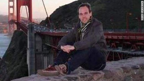 Andreas Lubitz vid Golden Gatebron i San Francisco.