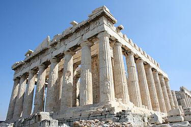 Parthenon på Akropolis i Aten.