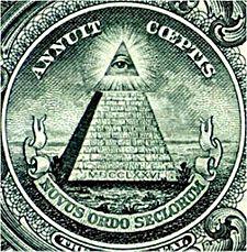 Sigillet på dollarsedeln! Det allseende ögat i topp. Läs mer på wikiedia bland andra sidor.