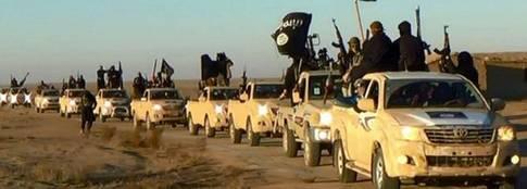 Inte kan väl fattiga jihadister ha råd med så många nya och fina bilar!