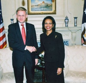 Carl Bildt och Condolezza Rice.