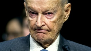 Zbigniew Brzezinski, counselor and trustee, Center For Strategic And International Studies, testifies on Capitol Hill in Washington, Wednesday, Jan. 21, 2015, before the Senate Armed Services Committee's hearing to examine global challenges and US national security strategy. (AP Photo/Cliff Owen)